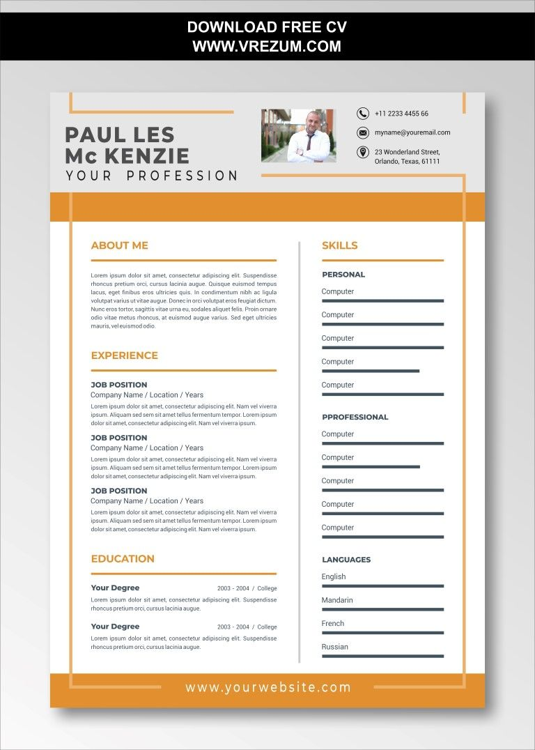 Editable free cv templates for engineering graduate in