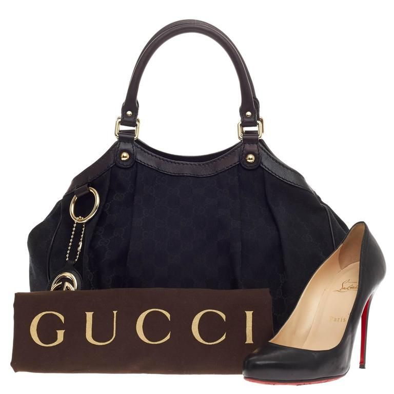 ebe50eade20aca gucci canvas | Gucci Sukey Tote GG Canvas Medium at 1stdibs | Gucci ...