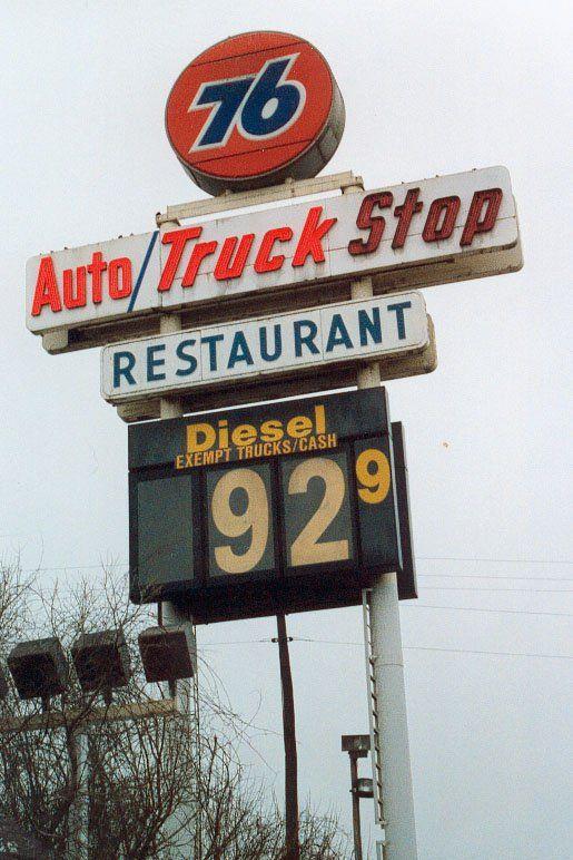 76 Truck Stop With Images Vintage Trucks New Trucks Trucks