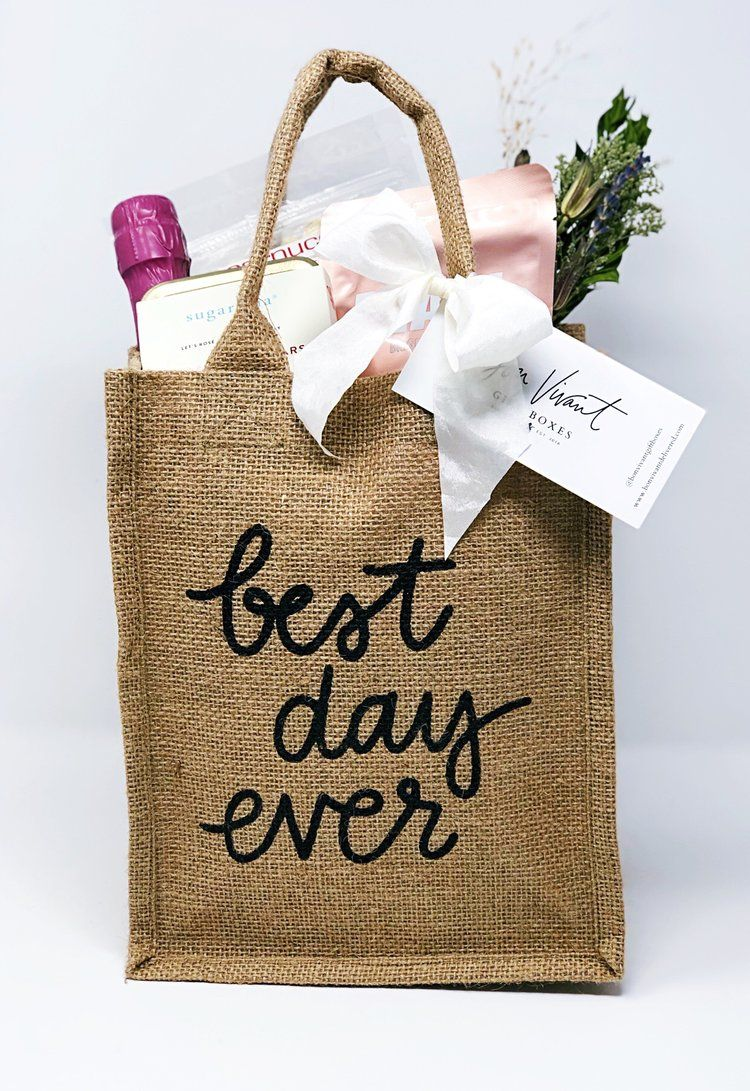 Best Day Ever Reusable Tote Gift Bag for Austin Delivery