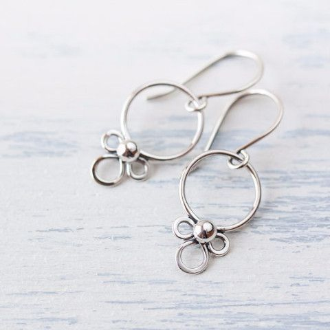 Dainty Silver Earrings, simple minimal everyday jewelry                                                                                                                                                      More