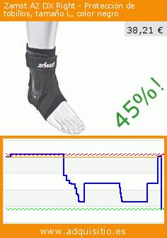 Zamst A2 DX Right - Protección de tobillos, tamaño L, color negro (Deportes). Baja 45%! Precio actual 38,21 €, el precio anterior fue de 69,90 €. https://www.adquisitio.es/zamst/a2-dx-right-protecci%C3%B3n-0