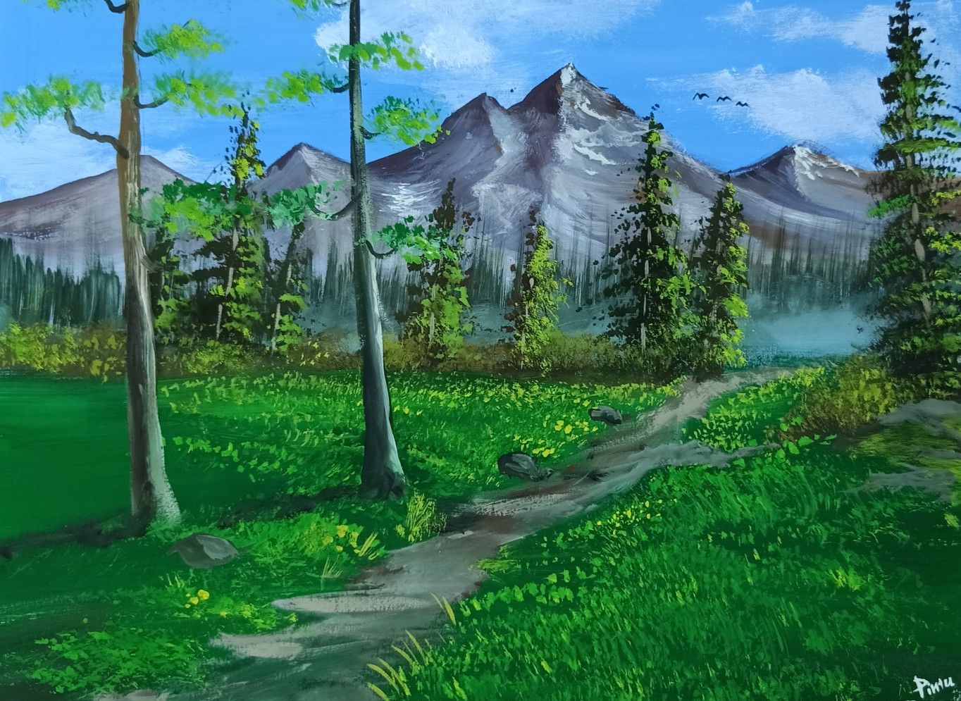 Poster Colour Painting In 2020 Poster Color Painting Landscape Paintings Art Gallery
