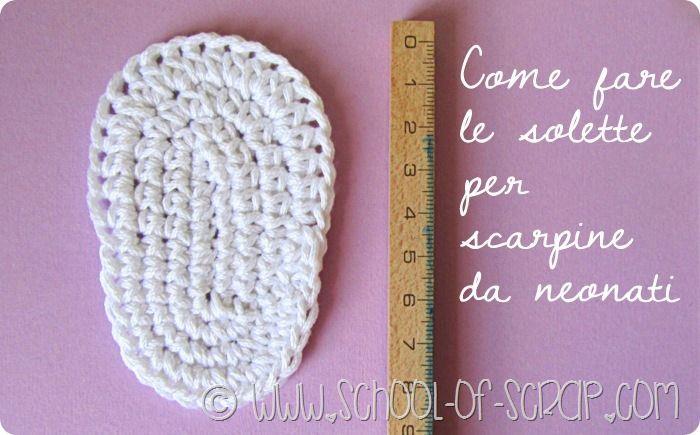 Scuola di uncinetto  come fare le solette per scarpine da neonati ... d66bb9cc7404