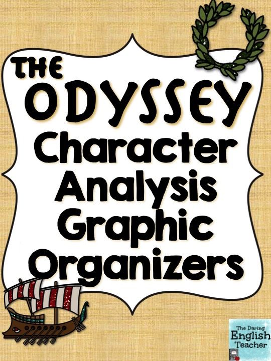 Odyssey Character Analysis Graphic Organizers My Tpt Store