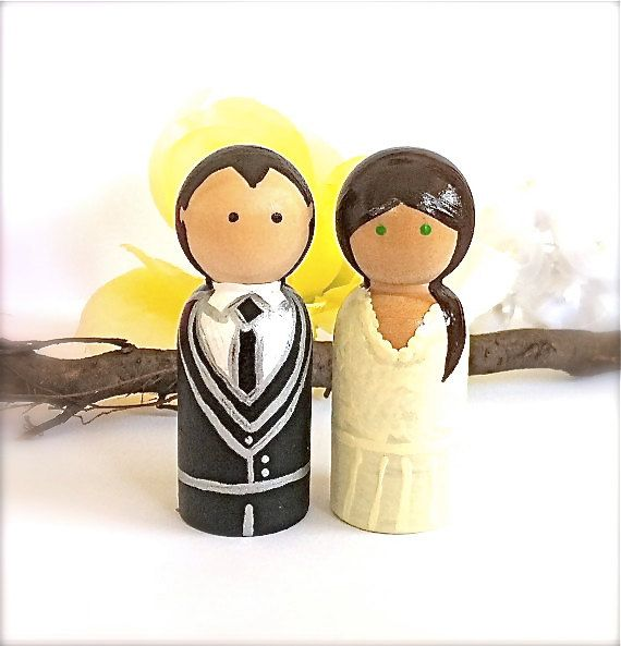 Custom cake toppers :) adorbs. | #Hitched | Pinterest | More Wedding ...
