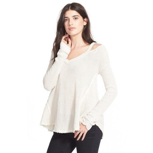 Free People 'Moonshine V' Cold Shoulder Sweater ($108