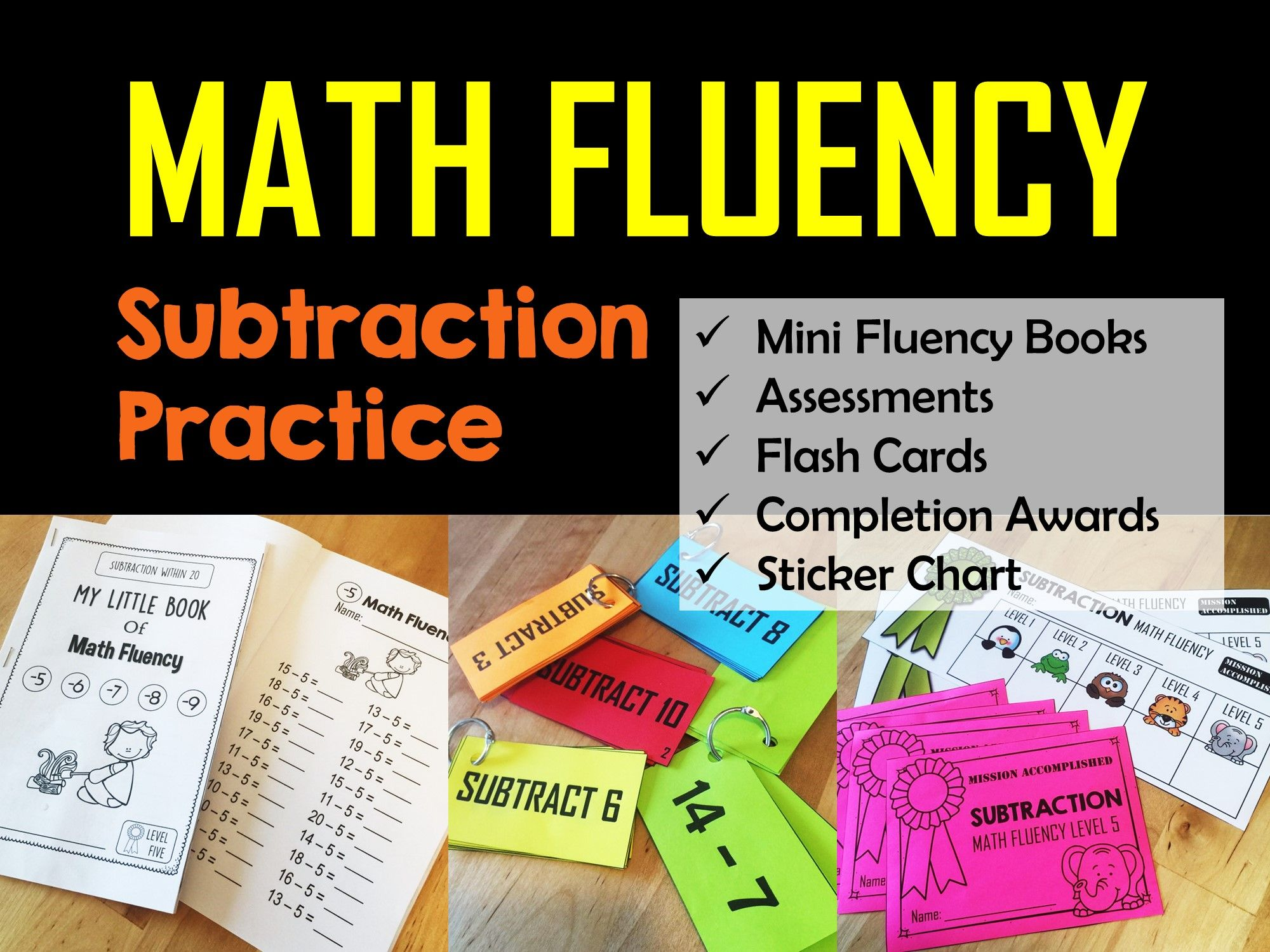 Subtraction Math Fact Fluency