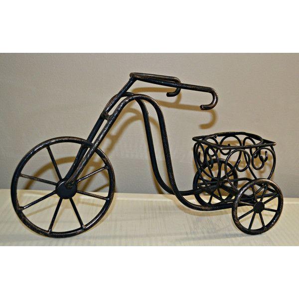 Bicycle Planter, Metal Bike Centerpiece, Black Wire Bike Planter,... (