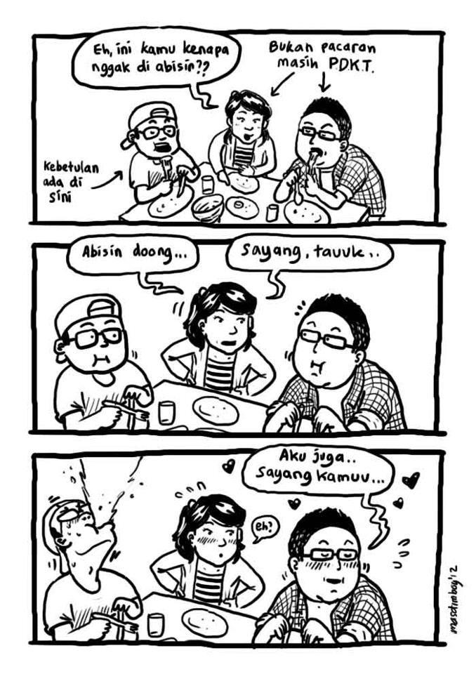 Kumpulan Komik Strip Kehidupan Sehari Hari Mustahil Gak Ngakak