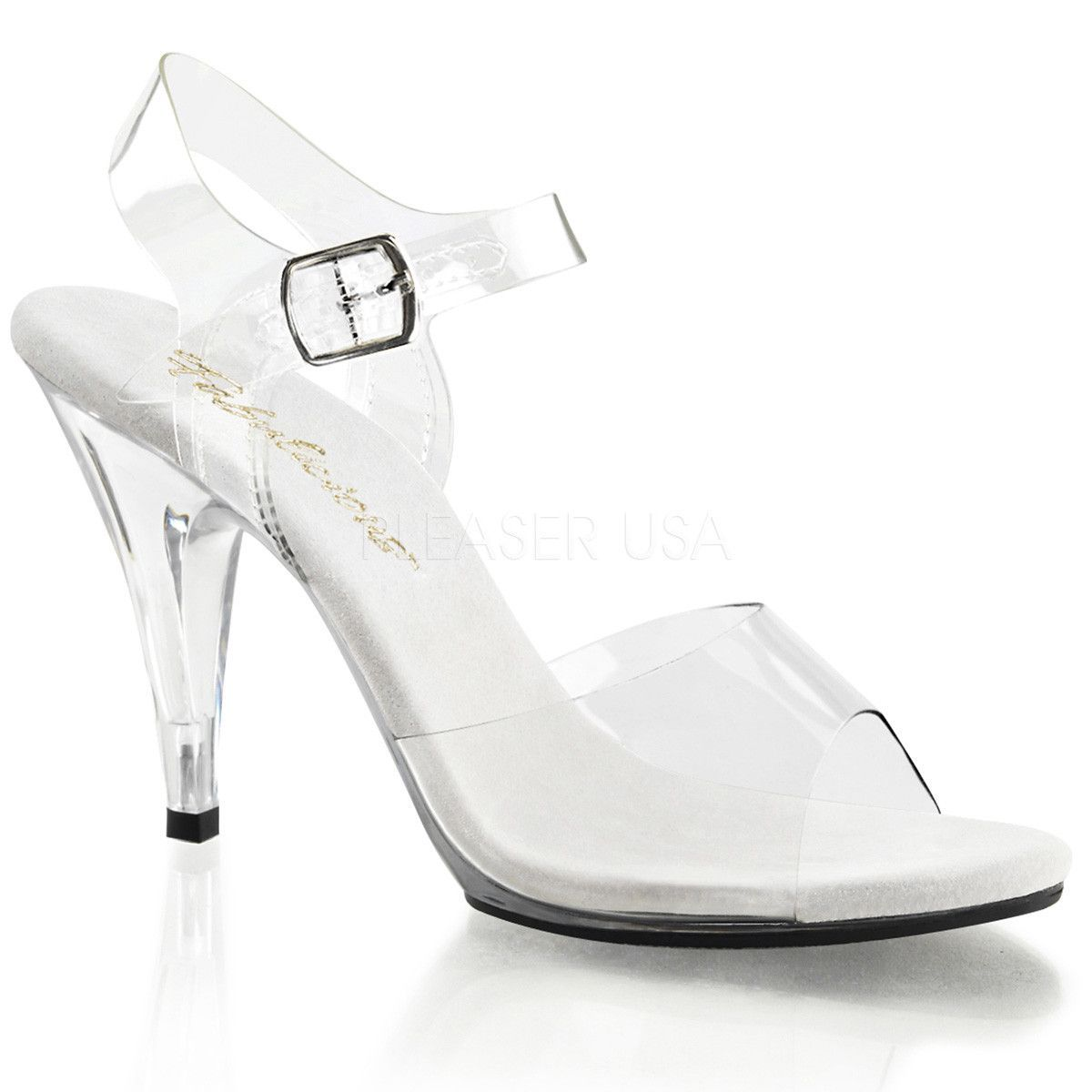 18f69184486 FABULICIOUS CARESS-408 Clear-Clear Ankle Strap Sandals. 4