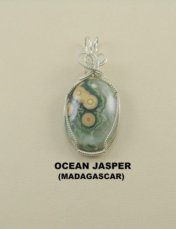 Ocean Jasper Designer Cabochon Wire Wrapped by stevenagus65, $37.00 ...