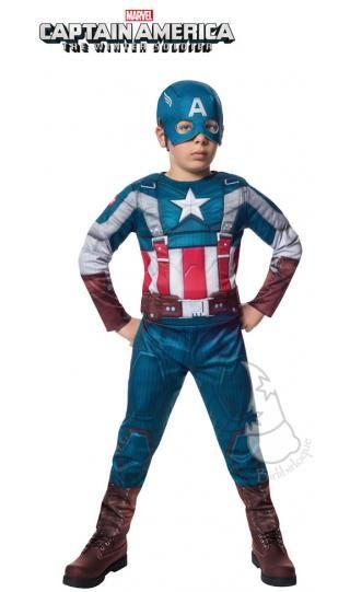 76b6cd3a6b9 Disfraz de Capitán América Musculoso para niños