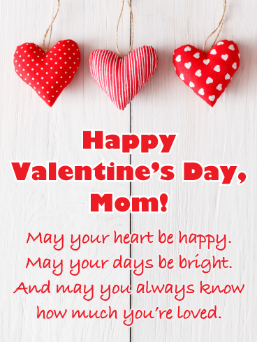 Charming Crafty Hearts Happy Valentine S Day Card For Mother Birthday Greeting Cards By Davia Happy Valentines Day Wishes Happy Valentines Day Mom Valentines Day Wishes