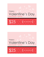 Gift certificate for valentine with 2 certificates per page gift certificate for valentine with 2 certificates per page free certificate templates in gift certificates category yadclub Choice Image