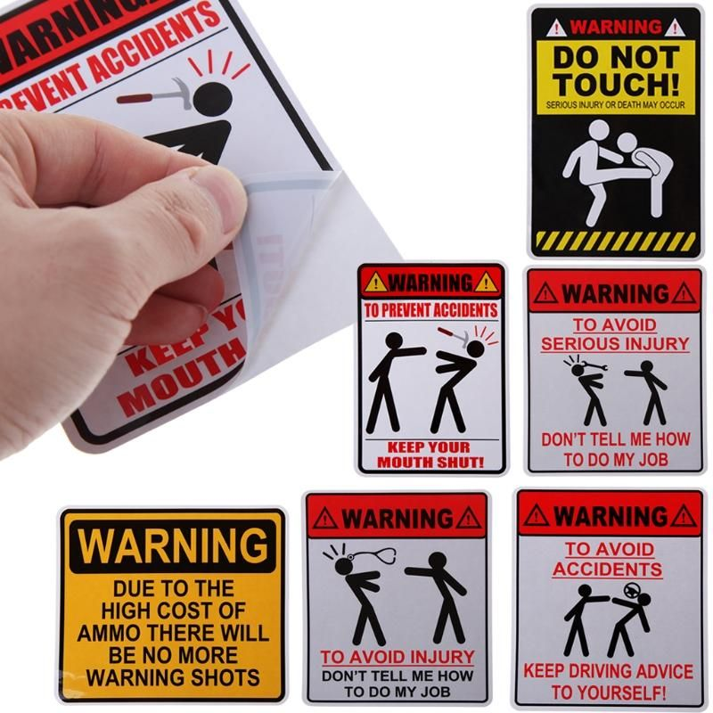 """WARNING 4/"""" Window Decal Sticker Due to the High Cost of Ammo.."""