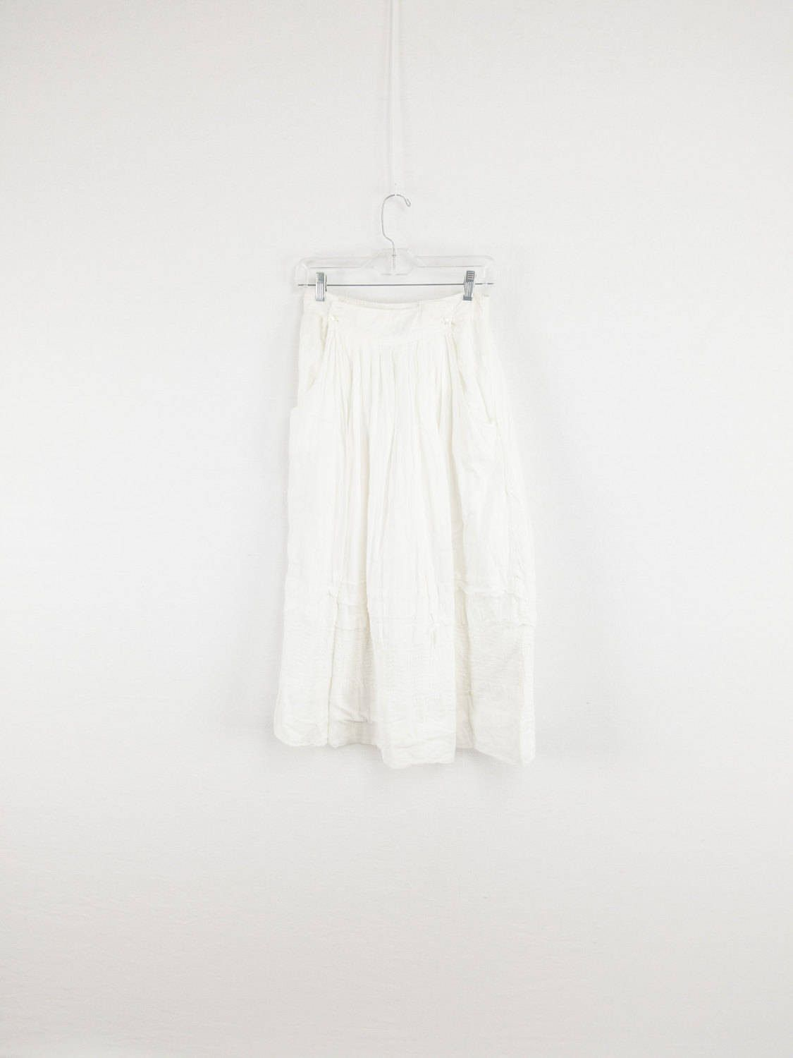White Indian Cotton Gauze Maxi Skirt