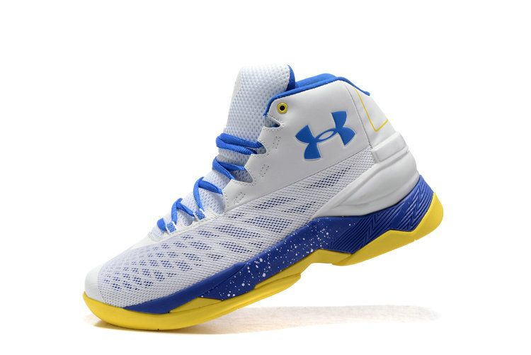 d63cae60da0c 2018 New Authentic UA Curry 3.5 Elite Royal Warriors Home White Yellow Size  9.5