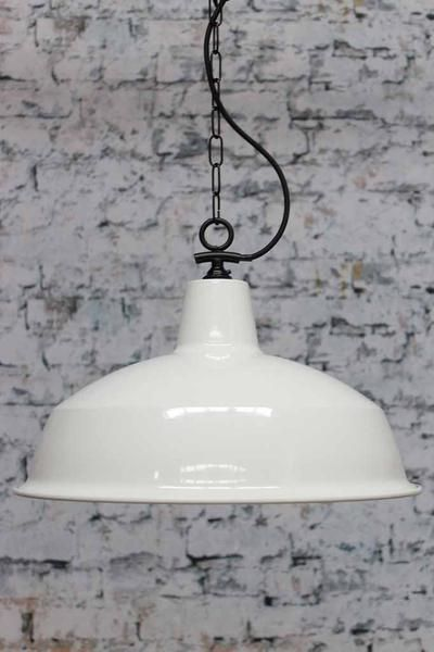 Industrial warehouse pendant light island lighting pendant industrial warehouse pendant light with white shade and chain suspension cord ideal for kitchen island lighting mozeypictures Choice Image
