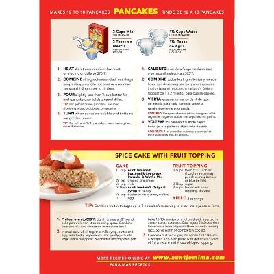 Aunt Jemima Complete Buttermilk Pancake Waffle Mix 32oz In 2020 Tasty Pancakes Waffle Mix Yummy Breakfast