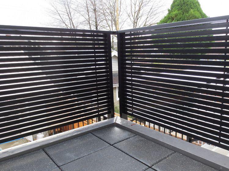 Dek Rail Horizontal Aluminum Slat Privacy Deck Railing Panels Voor Het Huis Balkon Huis