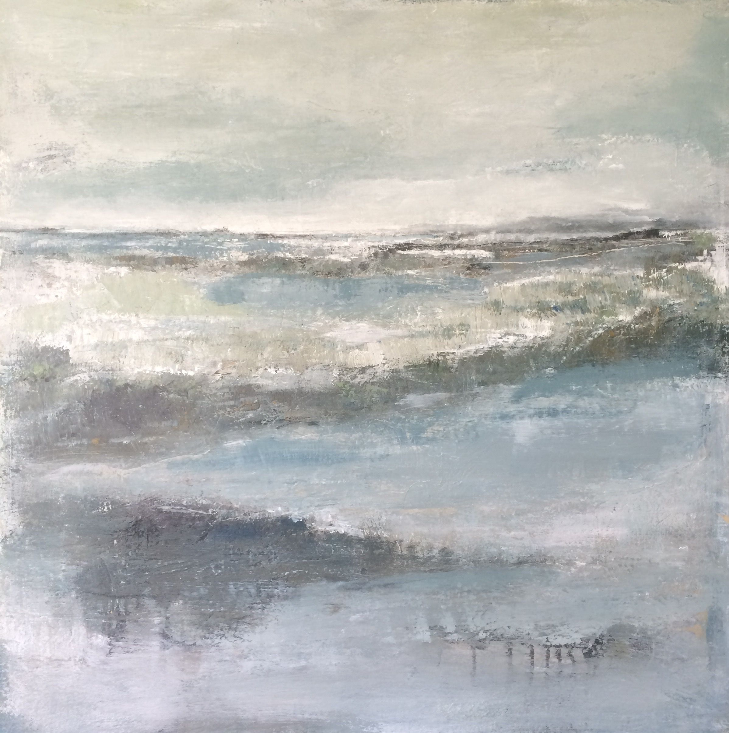"Lindsay Van Der Merwe: "" Our Footprints On A Cold Morning "" 110x110 Cm"