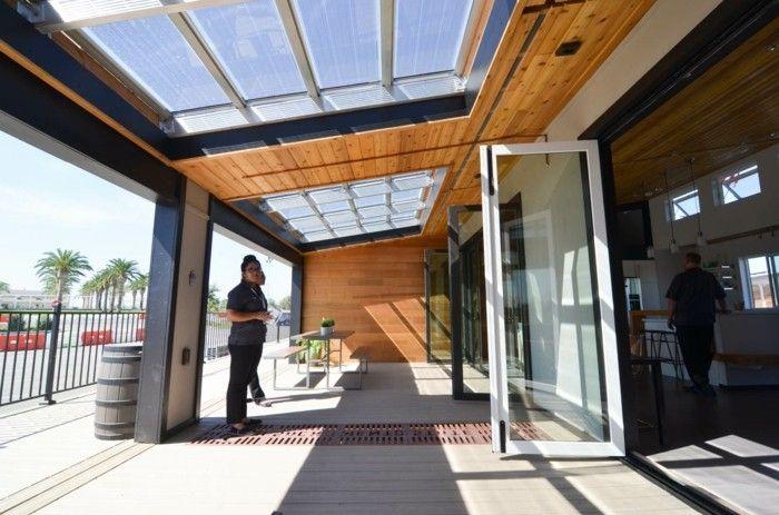 Les Portes Pliantes Design En 44 Photos Avec Images Porte Pliante Porte Battante Terrasse Vitree