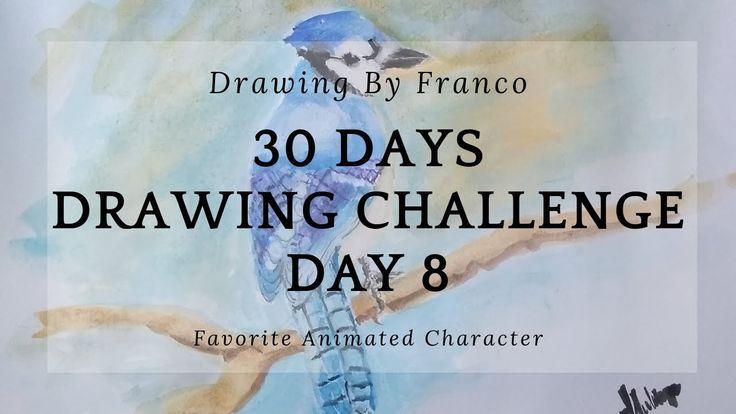 CH55: 30 jours de défi de dessin 8 - (Dessiner un oiseau Jay bleu) - #Challenge #drawing - #new