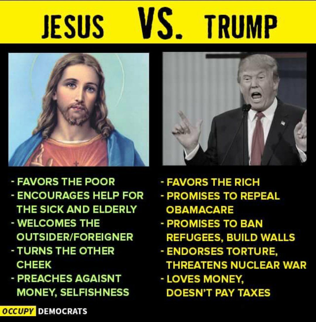 """a look at defiance in christianity I look at someone like trump and i go, how can you — as a christian — say he represents your values because he absolutely doesn't represent mine"""" the south is a weird place and texas ."""