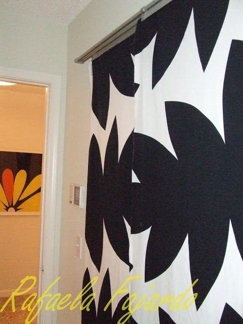 sliding panel curtain door hacked closet doors and room dividers pinterest. Black Bedroom Furniture Sets. Home Design Ideas