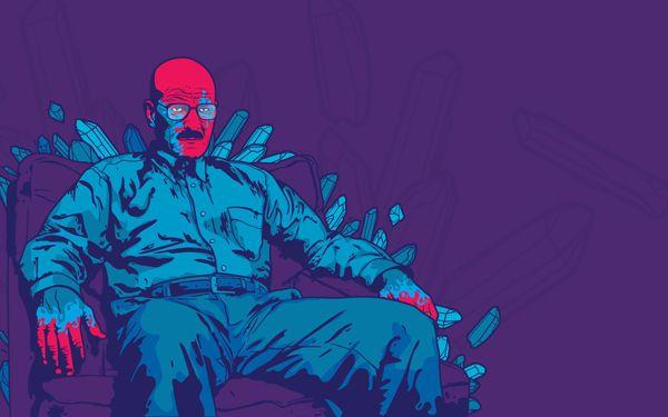 Breaking Bad Blue, by Jared Nickerson | 25 Best Pieces Of Breaking Bad Fan Art