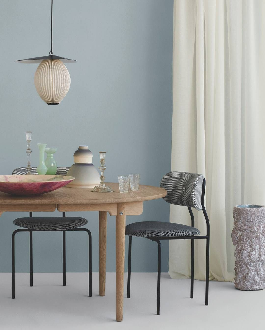 Gubi Coco Chair And Satellite Pendant In Elle Decoration Dk