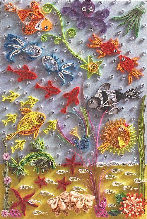 открытка подводный мир своими руками того, свое время