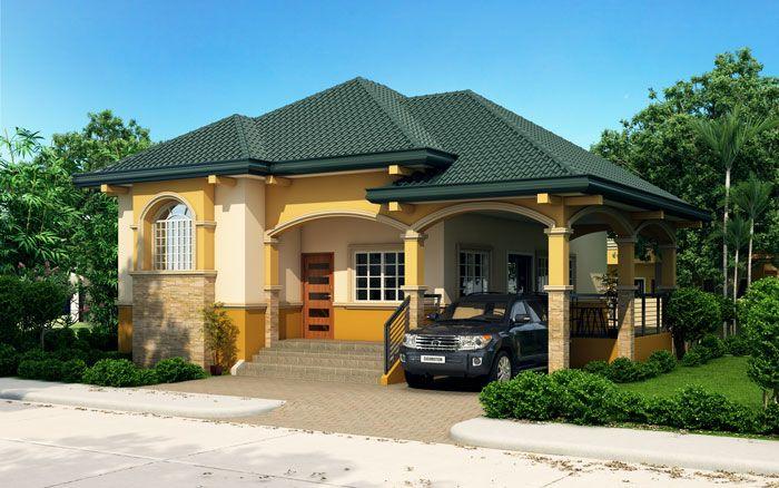 Althea Elevated Bungalow House Design Pinoy Eplans Fachada De Casas Bonitas Fachada De Casas Mexicanas Exteriores De Casas