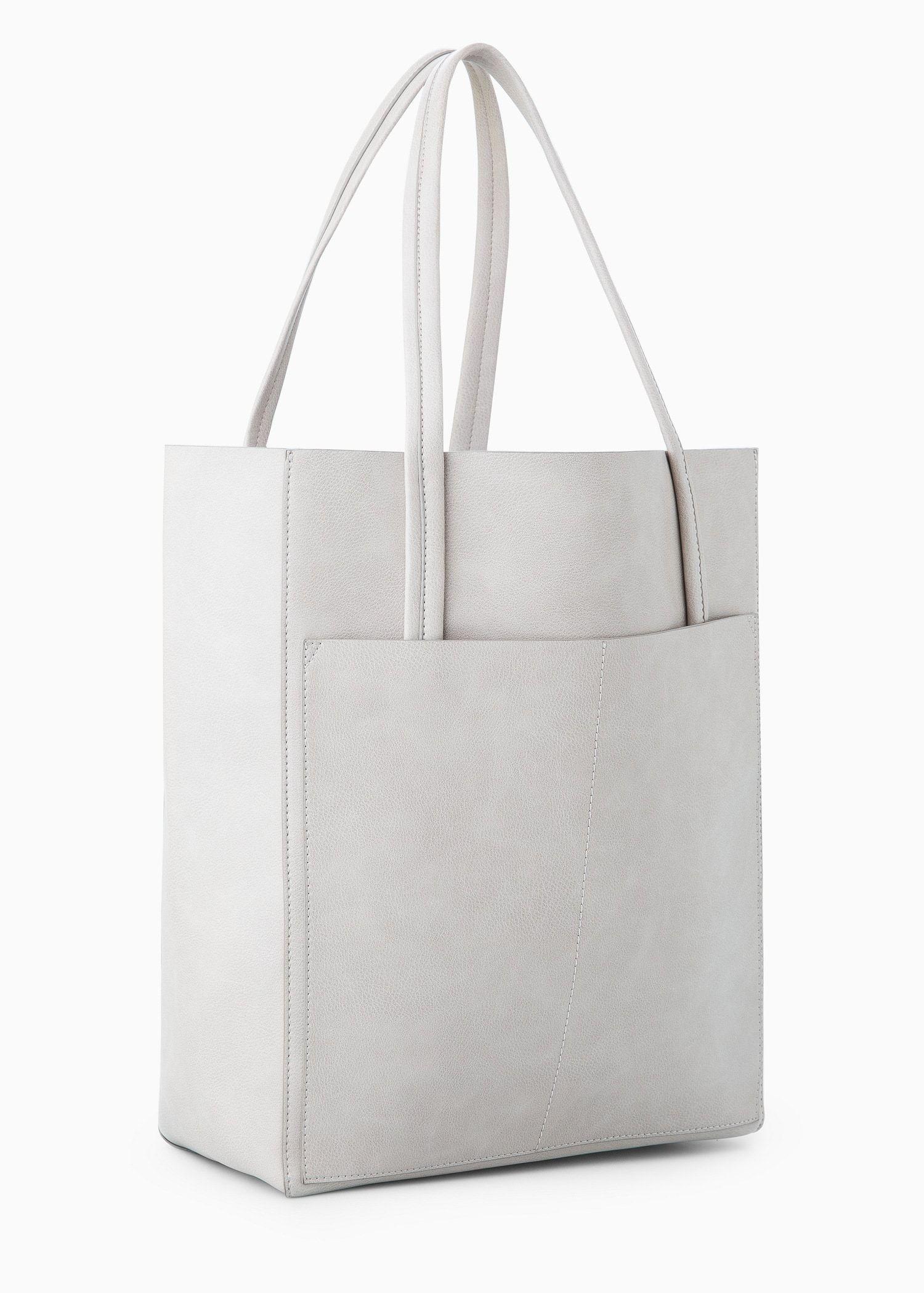 Bolso Shopper Bolsillo Mujer Mango España Shopper Tasche Taschen Lederbrieftaschen