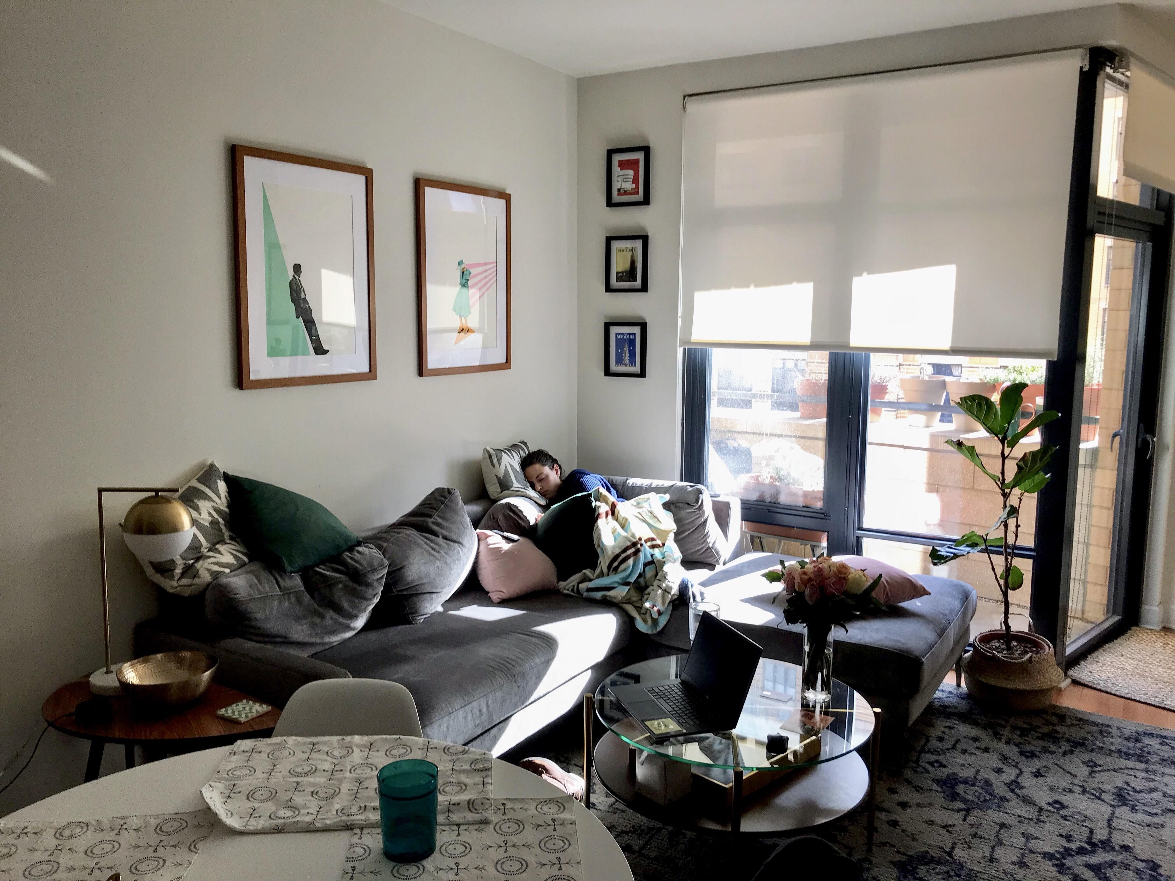 Not A Staged Photo And My Apartment Was Messy But I Snapped This Picture Of My Fiancee Napping On A Sunny Winter Afternoon Cozy Place Interior Dsign Interior