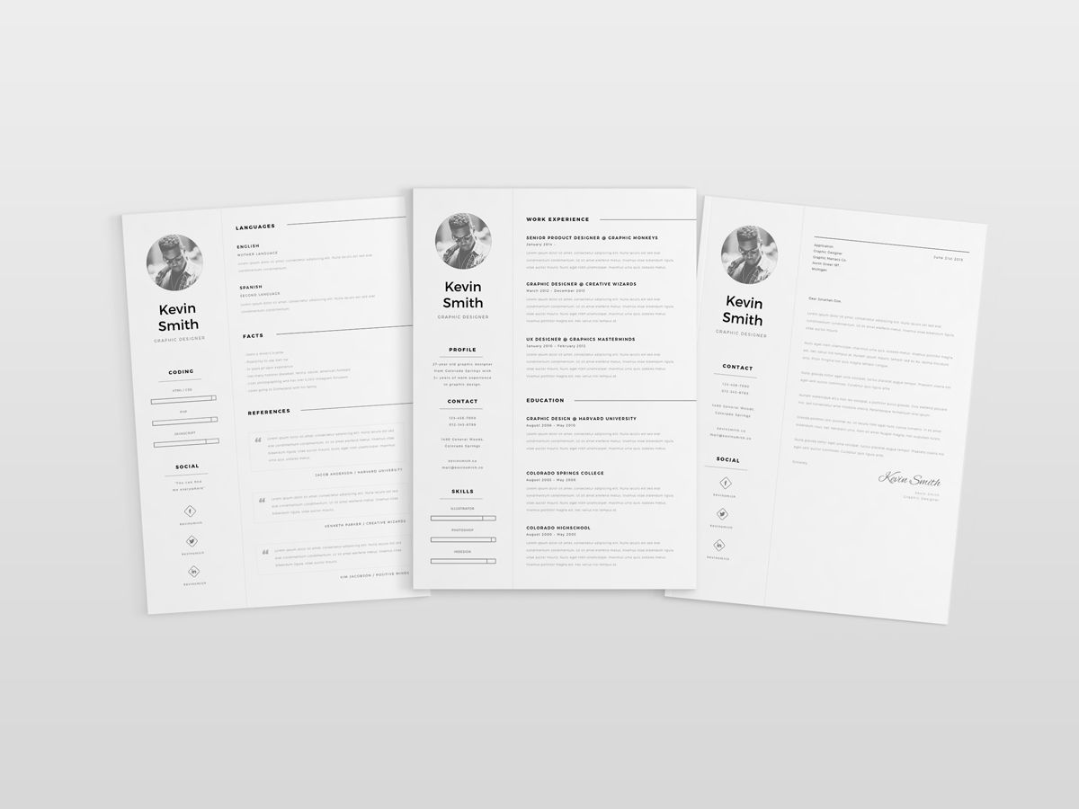 Free Minimal Elegant Cv Template For Job Seeker  Free Resume