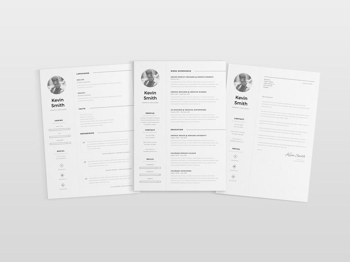 free resume template mockup 04