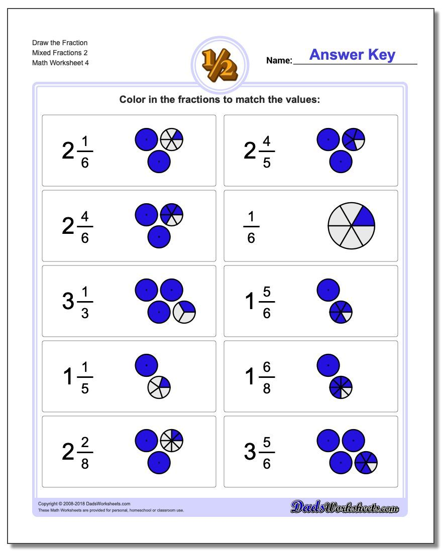 Click through to print these FREE printable graphic fraction worksheets.  Lots of other fraction topics includ…   Fractions worksheets [ 1100 x 880 Pixel ]