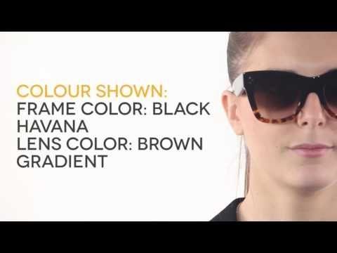 60bbb8d0018 Celine CL 41090 S Catherine FU5 Z3 Sunglasses in Black Havana ...