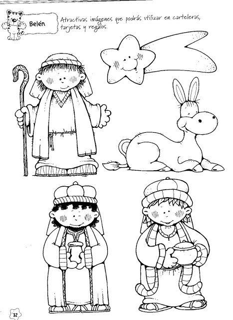 Nacimientos Para Colorear Y Armar Nacimiento Para Colorear Dibujos De Navidad Dibujo De Navidad