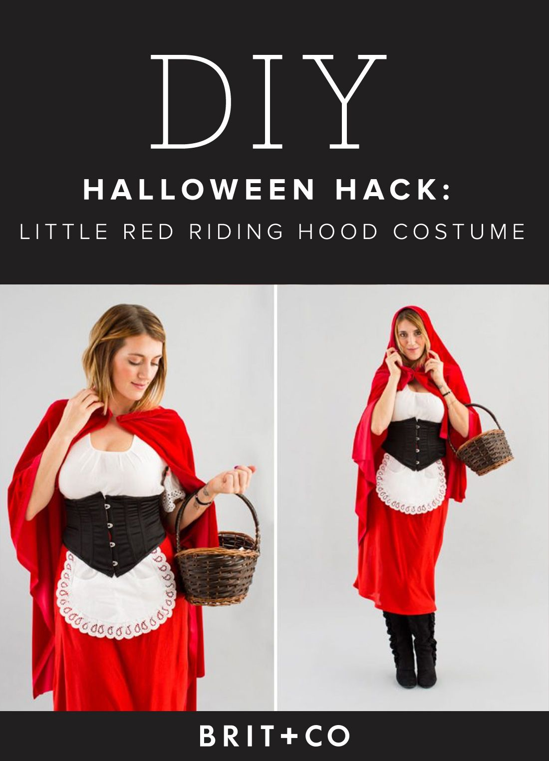 how to make a little red riding hood cape