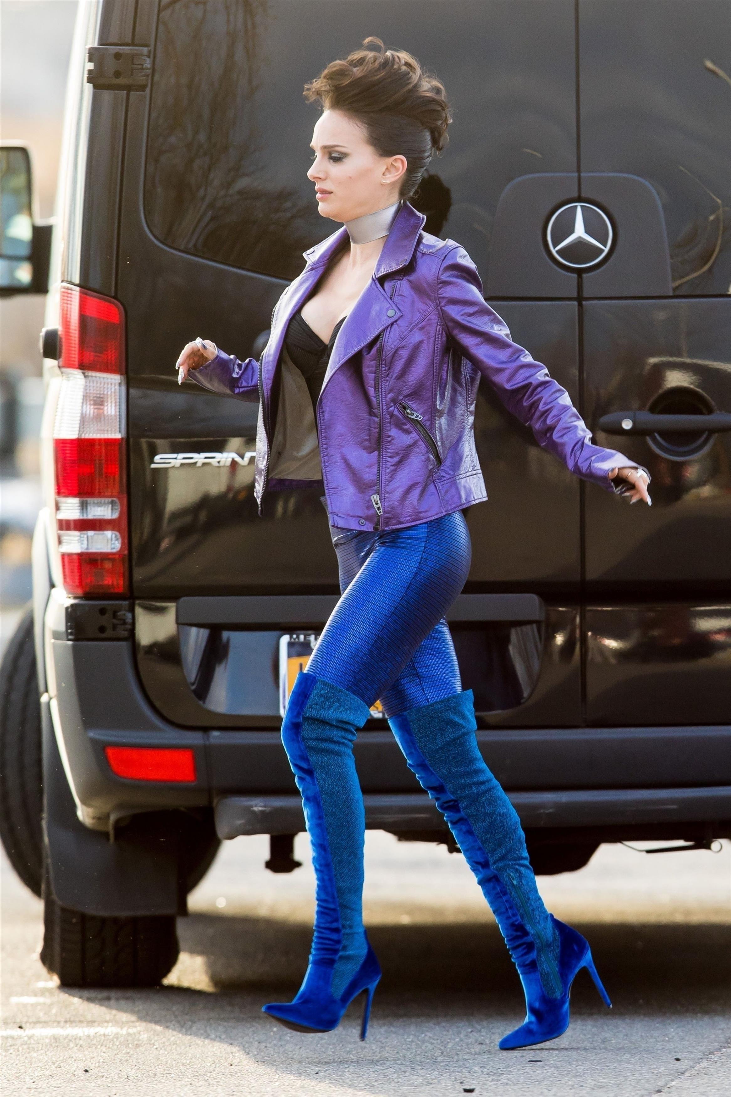 Natalie Portman films 'Vox Lux'   boots   Pinterest