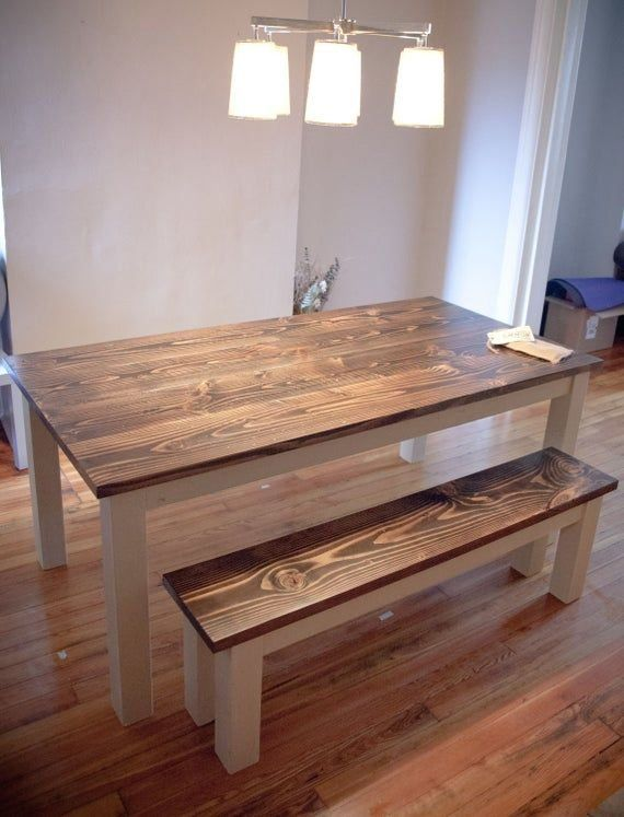 6 solid wood farmhouse table farmhouse dining table made in usa built to order ru in on farmhouse kitchen table diy id=81799