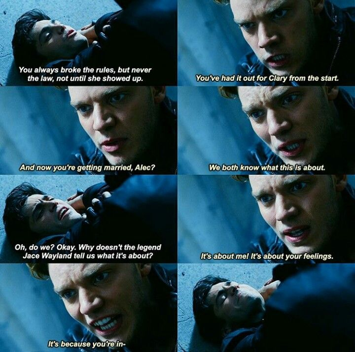 Alec and Jace fight
