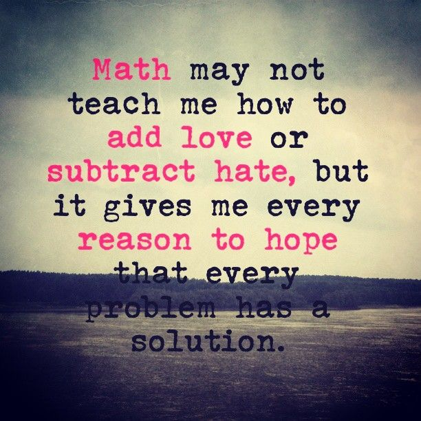 Math May Not Teach Me How To Add Love Or Subtract Hate But It Gives