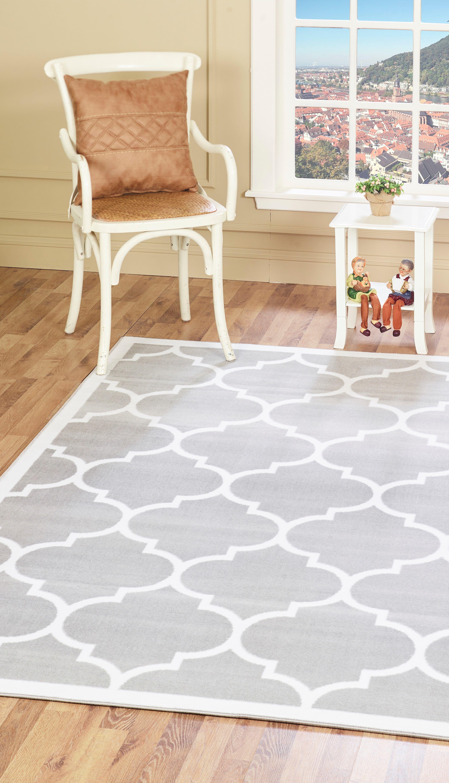 Handgetufteter Teppich Bertrange In Silber Handgefertigte Teppiche Design Und Deko