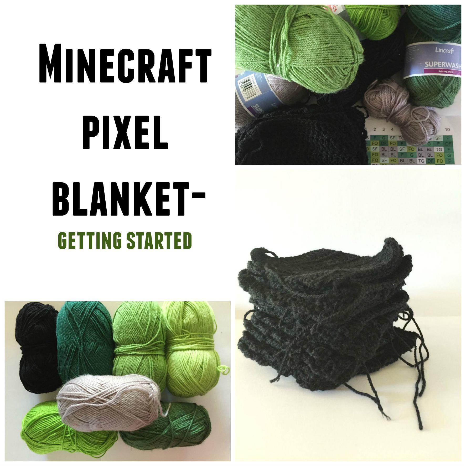 Minecraft pixel crochet blanket | Fiesta temática: Minecraft ...