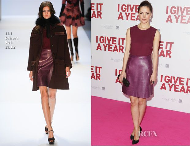 Berry Tone on Tone |   Rose Byrne In Jill Stuart
