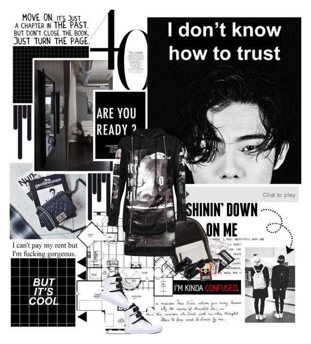 """""""I'm sorry but it's over"""" by followmiiin ❤ liked on Polyvore featuring Love Quotes Scarves, PB 0110, Hood by Air, Supra, Acne Studios, women's clothing, women's fashion, women, female and woman"""